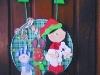Placa de porta natalina em EVA
